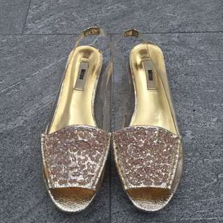 Mitju Sandals (gold with beads)