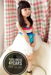Tutu rainbow dress