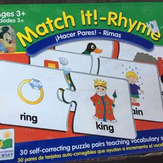 Match It! rhyme puzzle