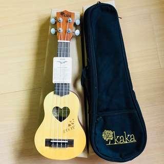 "[Free Deliver] KAKA Wood Baritone 17"" Ukulele with Premium Carrier Bag Aquila String"