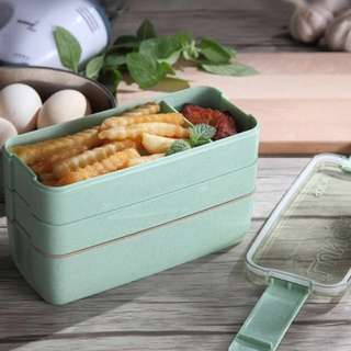 Japanese bento wheat Straw lunchbox
