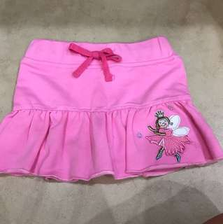 Pretty ribbon pink skirt size 90cm
