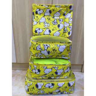 Snoopy 6PCS Travel Luggage Organizer Set Storage Pouches Suitcase Packing Bags