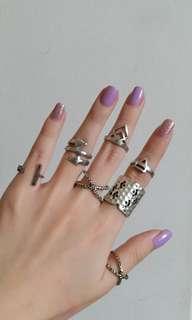 ring set model ethnic boho