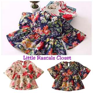Girl Flower Short Dress