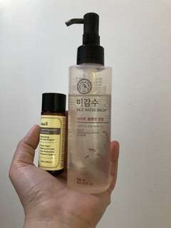 Klairs Toner and Faceshop Rice Water Cleansing oil BUNDLE!