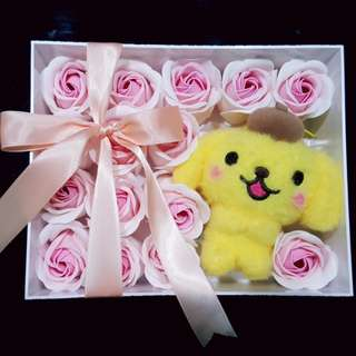 Pompompurin soap flowers gift set