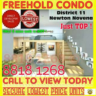 🌟🌟 District 11 FREEHOLD Condo NEAR MRT And TOP Already @ NEWTON For STARBUY SALE !! 🌟🌟