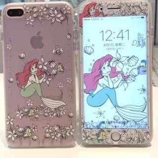 手機殼IPhone6/7/8/plus : 美人魚公主+3D綱化膜