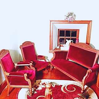 Antique Parlor set of 4 including a rocking chair