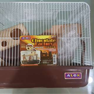 Hamster Cage (New) + Wood Shavings pac  + 1 Pac hamster Food