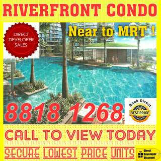 🌟🌟 RARE New-Launch Private Condo with 100% FULL UNBLOCKED RIVERFRONT VIEW for Limited-Time STARBUY !! 🌟🌟 studio