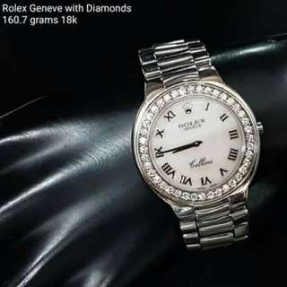 Rolex Geneve With Diamonds
