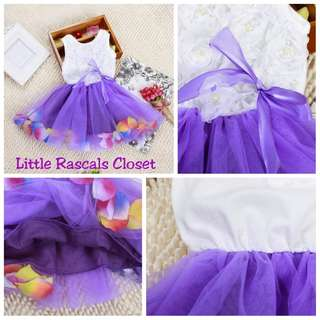 Girl Princess Bow Flower Lace Tulle Dress