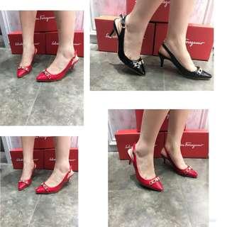 Ferragamo Signature heels Ready (Navy,Red,Black)