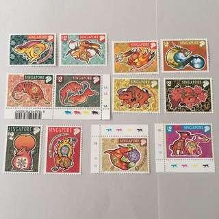 Singapore 1st series zodiac stamps
