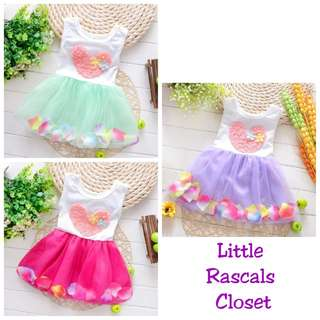 Girls Princess Heart Flower Tutu Dress
