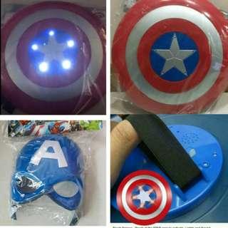 Captain America Shield + Led Mask