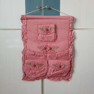 Brand new 5-pocket embroided stationery or toiletry holder. 34cm x 47cm