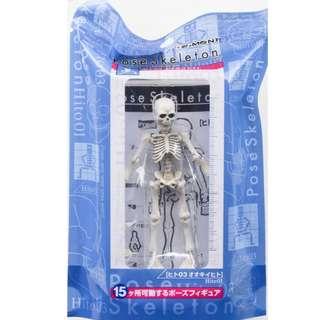 Re-ment 日本食玩 Pose Skeleton 骷髏骨系列 骷髏骨人 Human #03 約 9.5cm 高 (全新未拆)