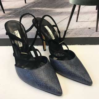 全新 Oscar De la Renta Leather Sandals