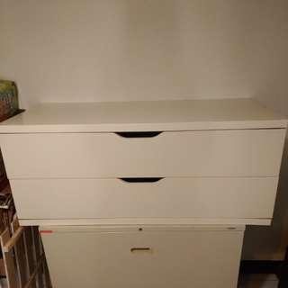 Ikea兩大抽收納櫃