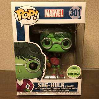 Reserve Early! Funko Pop Spring Convention Exclusive (ECCC Exclusive) Marvel - Lawyer She-Hulk + Soft Pop Protector