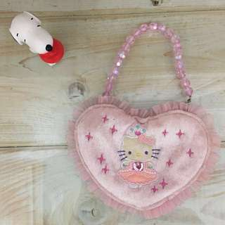 🚚 Sanrio 三麗鷗正版 Hello Kitty 心型手提包