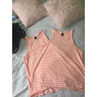 SIZE 14 - Sleeveless Huffer Shirt x2