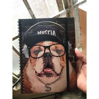 Hustla Bulldog (A5 Spinout Notebook) TYPO✨