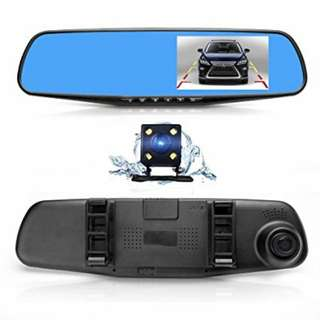 CNY Promo: In car cam HD REAL mirror recorder.(ready stock)