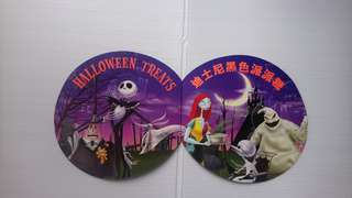 香港迪士尼樂園「黑色世界」貼紙卡套裝(已貼)