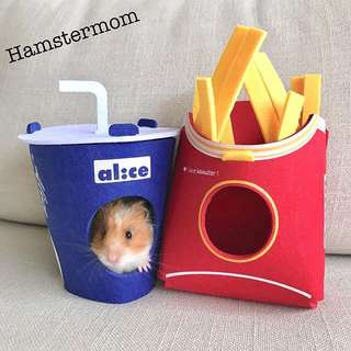 Hamster Fries & Coke Puzzle Hideout Toy House