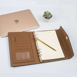 Not a briefcase leather notebook