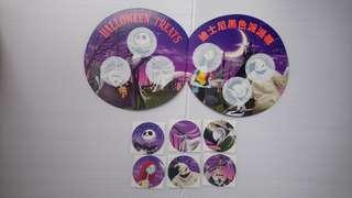 香港迪士尼樂園黑色派派糖貼紙卡套裝(未貼)