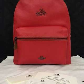 Coach x Mickey Red Backpack