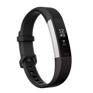 Fitbit Alta HR Fitness Wristband [Size L] (Black/Stainless Steel)