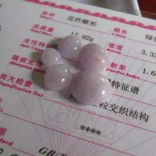 翡翠紫羅蘭蛋面戒面 尺寸取大13x12x6mm 取小 7.5x6 5x4mm