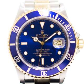 Preowned Rolex Submariner in Half Gold 16613LB