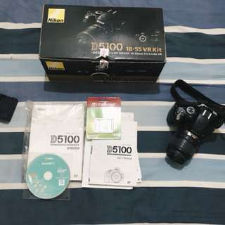 Nikon DSLR D5100 Complete with box