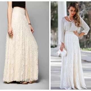蕾絲裙歐美女裝修身高腰長款半身裙