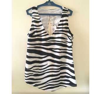 OASIS Zebra Top REPRICED