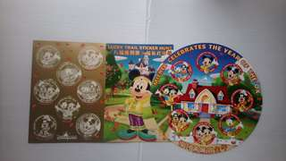 香港迪士尼樂園「八福」貼紙卡套裝(未貼)