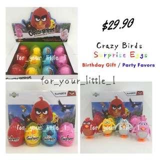 Crazy Birds Surprise Eggs / Party Favor / Birthday Gift