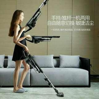 德爾瑪吸塵器家用靜音手持推桿兩用地毯式強力除蟎迷你小型大功率