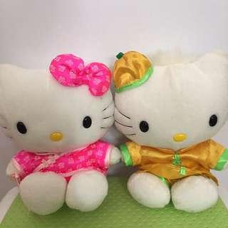 Hello kitty 中國風情侶公仔