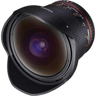 Samyang 12mm f/2.8 ED AS NCS Fisheye Lens for Canon EF Mount