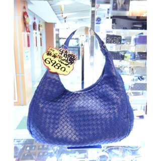 BV Bottega Veneta Blue Leather Shoulder Hand Bag 寶提嘉 藍色 皮革 真皮 手挽袋 手袋 肩袋 袋