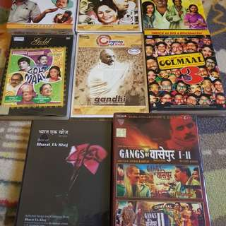 SGD 10 for FULL SET 8 Classic Hindi Movies DVDs !!!