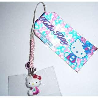 包郵 全新購自日本 原裝Sanrio Hello Kitty 寶石響鈴粉紅電話繩